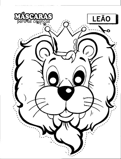 Lion mask free coloring pages coloring pages for Lion mask coloring page