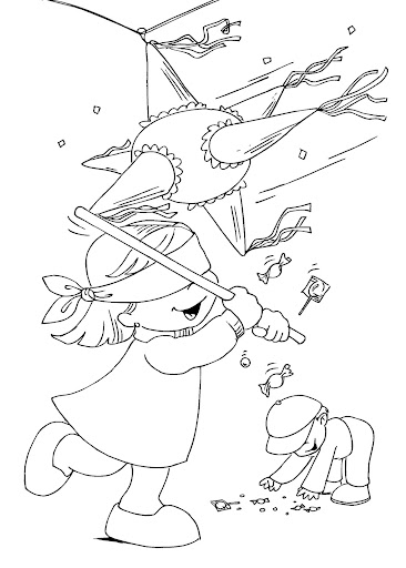 la posada coloring pages | Christmas party - free coloring pages | Coloring Pages