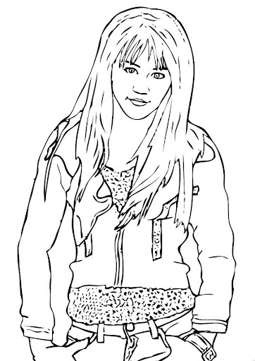 Miley Cyrus / Hannah Montana coloring page. More famous people ... | 512x362