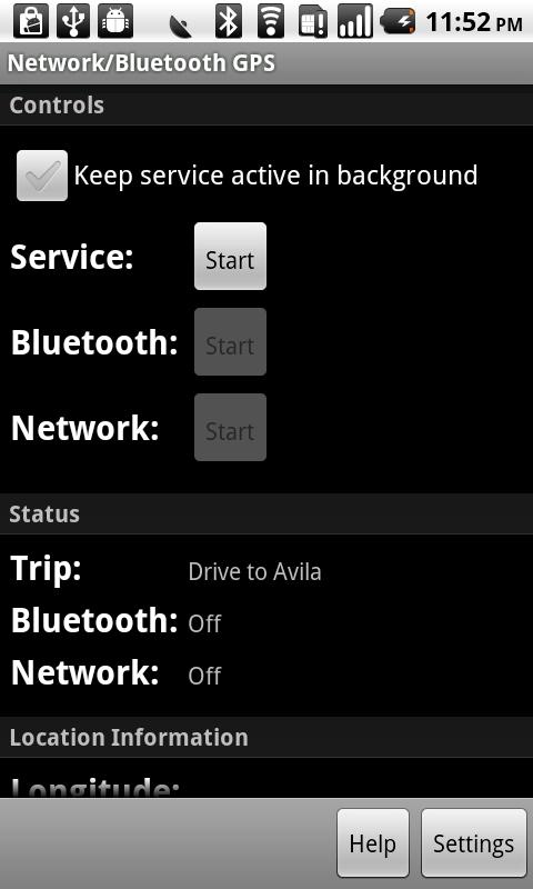 Network/Bluetooth GPS - screenshot