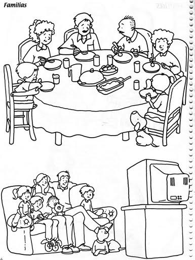 Dibujos De La Familia Para Colorear
