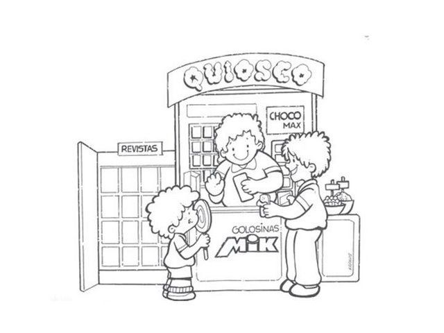 Dibujos De Tiendas Para Colorear