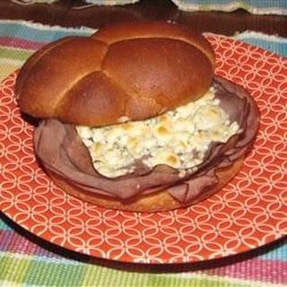 Ultimate Roast Beef Blues Sandwich.