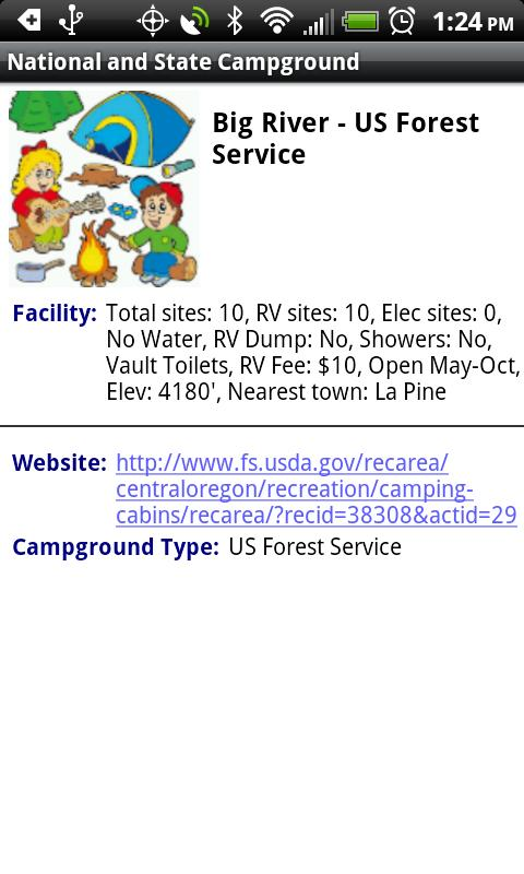 National State Campground Map Android Apps On Google Play - Us forest campgrounds map