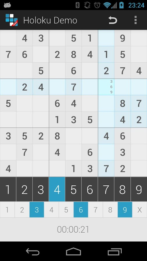 Holoku Demo (Holo Sudoku) - screenshot