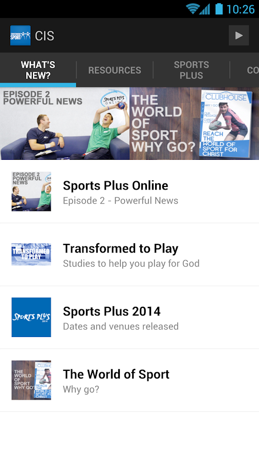 Christians in Sport - screenshot