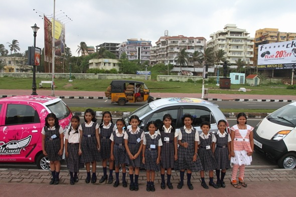 Class Photo Shoot at Vizag's Marine Drive