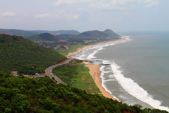 Vizag Beach Line from Kailashgiri