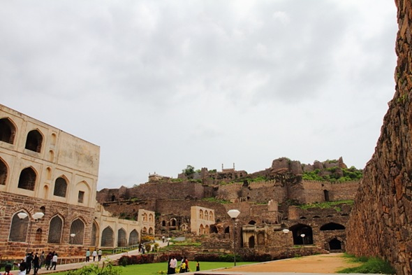 Entering Golconda Fort