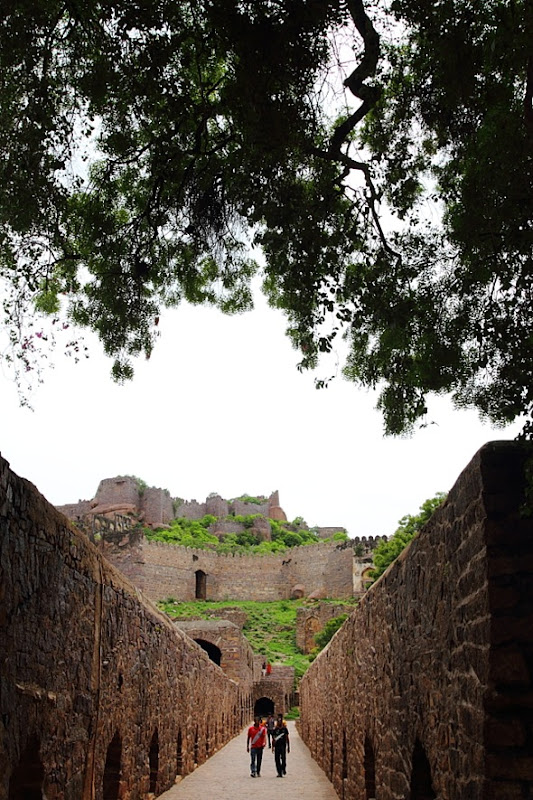 Fortified Pathway inside Golconda Fort, Hyderabad