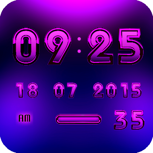 Digital Clock Android Purple 生活 App LOGO-APP試玩