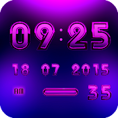 A-PURPLE Digital Clock Widget