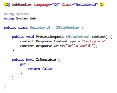 Tikal Knowledge - Write custom ASP NET HTTP Handler with