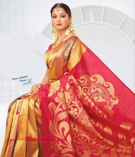Drogam Nadanthathu Enna Poster: ANUSHKA SHETTY Chennai Silks New Add HD Photo Galllery