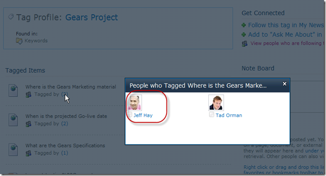 SharePoint 2010 People Who Tagged dialog