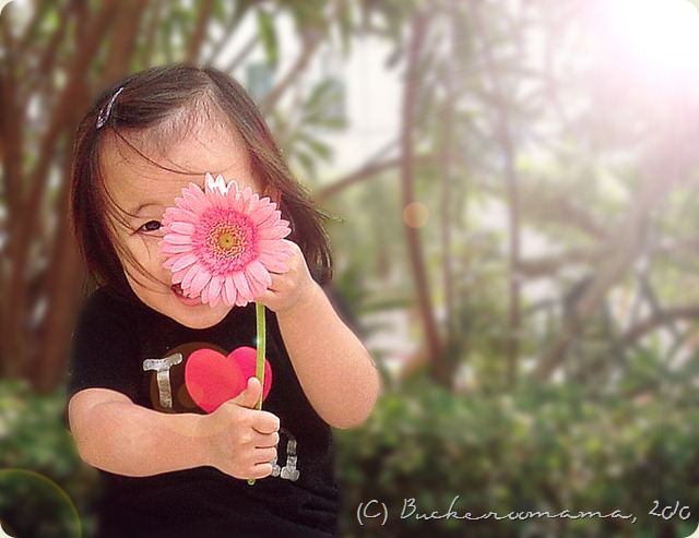 zoe with flower