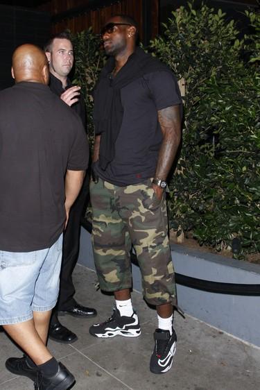 quality design 47f68 17e5a ... LeBron James Wearing Nike Air Griffey Max 1 Fresh Water ...