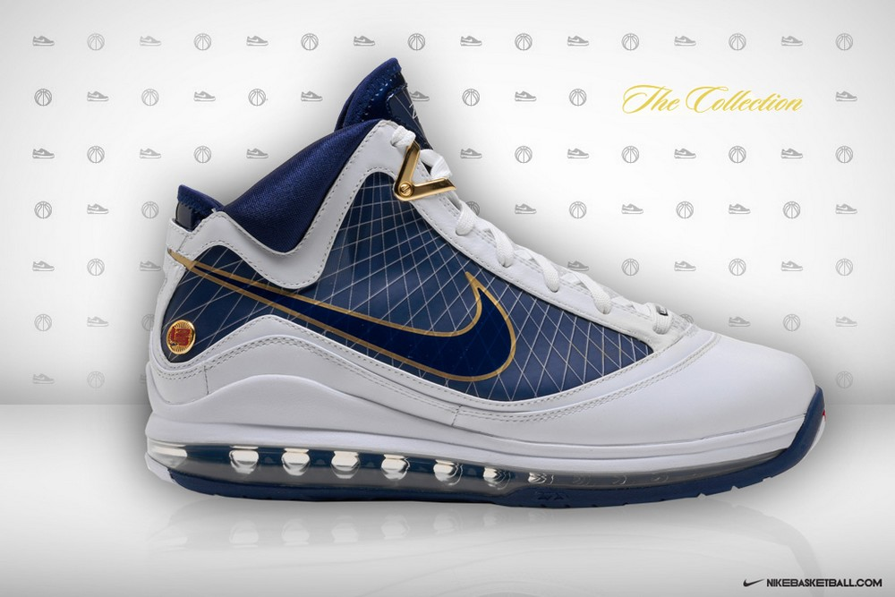 55136ce2f8dc6 Air Max LeBron VII (7) White   Navy Official Release Date