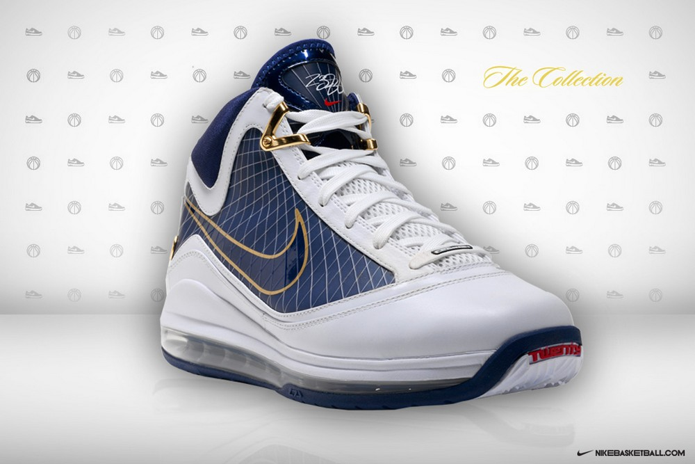 8e61d215bb6a6 ... Air Max LeBron VII 7 White Navy Official Release Date ...