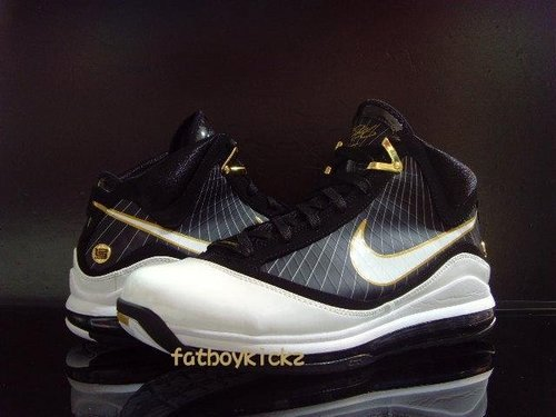 new product bd489 a0283 Black White Gold 8211 Nike Air Max LeBron 7 VII Preview ...