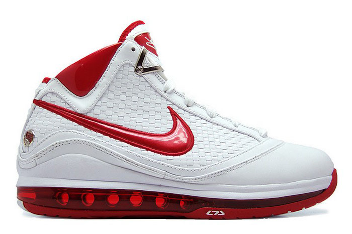detailed look e41e6 a16e2 Nike Air Max LeBron VII NFW Woven White Red Available Early   NIKE LEBRON -  LeBron James Shoes