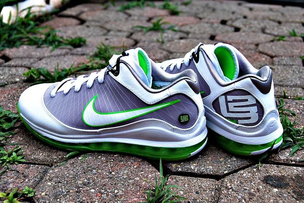 save off 3eb09 bb88e ... Releasing Now Air Max LeBron VII Low WhiteGreyMean Green ...