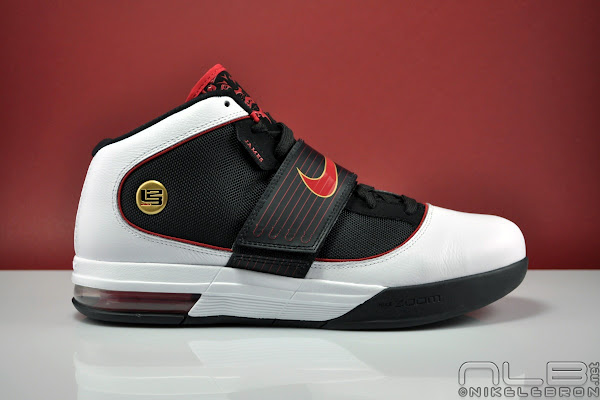 arrives 79042 7cd4e LeBron's Nike Zoom Soldier IV (4) Black White Red Showcase ...