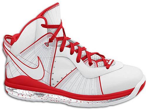 95eef7e94ef 417098-103 White Sport Red. Nike LeBron 8 Miami Heat Home Quickstrike  Release on Dec 18th