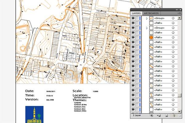 Contour Maps, from Brisbane City Plan 2000 to Rhino