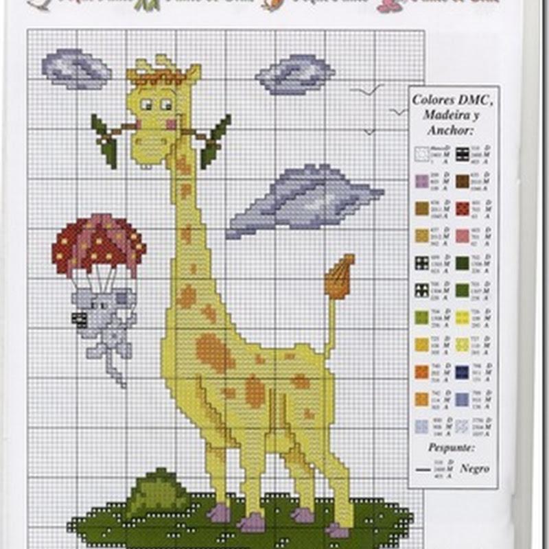 Patrones jirafa en punto de cruz