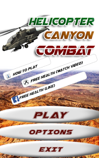 Helicopter Canyon Combat- screenshot thumbnail