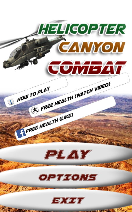 Helicopter Canyon Combat- screenshot