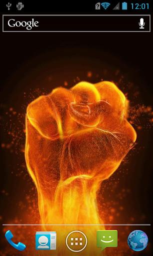 Fiery fist live paper
