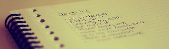 Lista de tarefas.