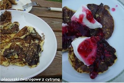 Cytrusy: śniadaniowe placuszki twarogowe i lody