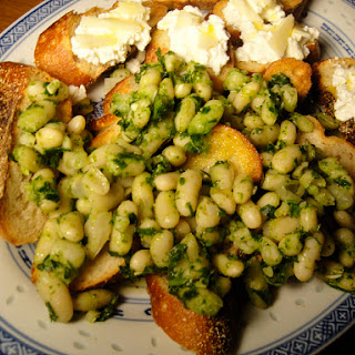 Cannellini, Caper, Lemon, and Anchovy Crostini