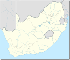 Fochville North West on map