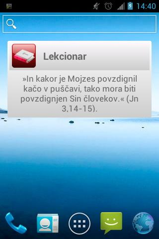 Lekcionar- screenshot