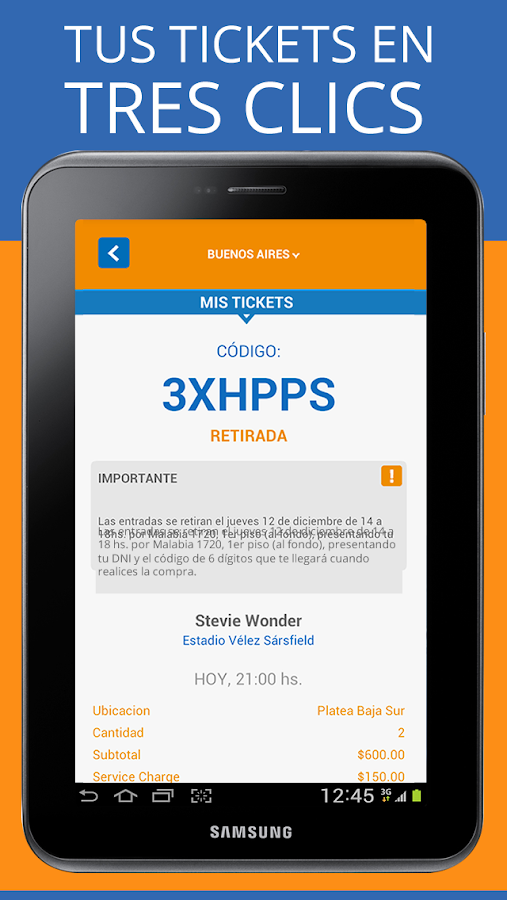 Ticket Hoy- screenshot