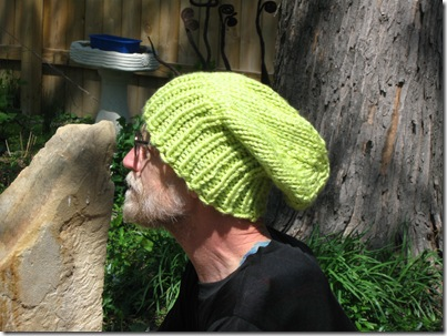 Knitting Dragonflies Knitted Flat Slouchy Hat Pattern