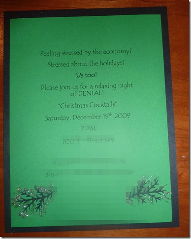 Christmas party invite 2009