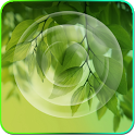 Galaxy S4 Green Leaf Wallpaper icon