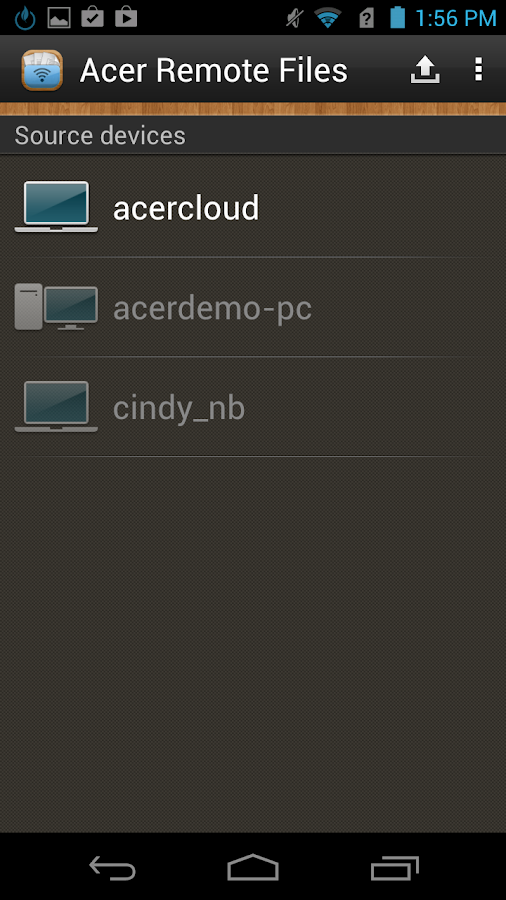 Acer Remote Files - screenshot