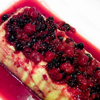 Cheese Pudding with Berries.