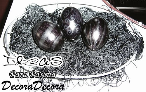 idea para decorar pascua con huevos pintados