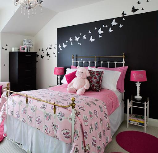 decoracion cabecero cama mariposas