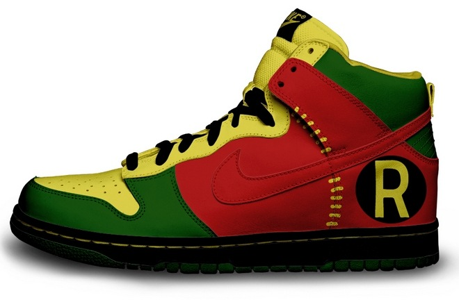 Tênis Nike cano alto personalizado com logo do Robin. df5a052721b91