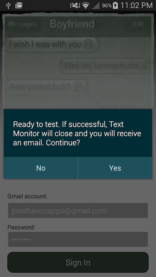 Text Monitor- screenshot