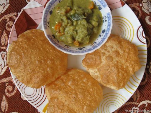 Poori with Mixed Veg Saagu