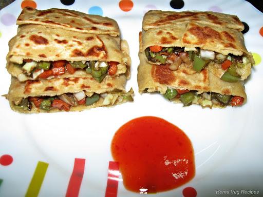 Turkish Roti or Stuffed Roti